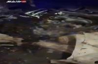 اولین فیلم خودروی حامل شهید قاسم سلیمانی پس از اصابت موشک