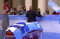 مراسم وداع با مارادونا در کاخ ریاستجمهوری آرژانتین