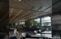 حقانی 09380039391_مدرنترین پوشش تاشو سقف کافه _زیباترین سایبان اتوماتیک جلوی کافه رستوران