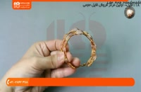 آموزش ساخت دستبند با سیم مسی و مهره یا نگین