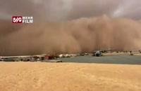 تصویری وحشتناک از طوفان شن در آفریقا