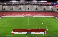خلاصه مسابقه فوتبال لهستان 3 - آندورا 0 (دبل لواندوفسکی)