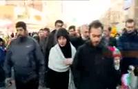 حضور فرزندان سردار سلیمانی در راهپیمایی 22 بهمن
