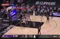 خلاصه بازی بسکتبال لس آنجلس کلیپرز - لس آنجلس لیکرز
