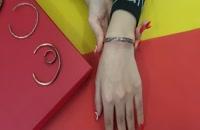 دستبند مسی مفتولی مدل ماهی
