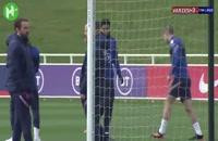 تمرینات آماده سازی تیم ملی انگلیس