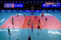 خلاصه بازی والیبال بلغارستان - آمریکا