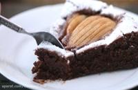 شکلات بادام و کیک گلابی