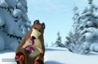 کارتون ماشا و میشا - اسکی رو برف