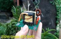ساخت اداپتور 220 به 12 ولت 20 آمپر با برد  قدیمی پاور کامپیوتر | Simple 250W ATX SMPS Without IC | OLD ATX Boards |