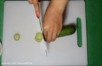 میوه آرایی - آموزش آسان تزیین خیار و هویج به شکل گل