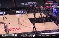 خلاصه بازی بسکتبال لس آنجلس کلیپرز - بروکلین نتس