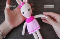 آموزش بافت عروسک خرگوش ملوس قسمت 2