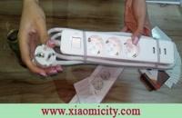 جعبه گشایی سه راهی برق شیائومی با سه سوکت و ۳ پورت USB
