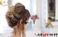 فیلم آموزش شینیون مو کوتاه با بافت یکطرفه مو