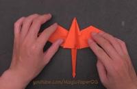 ساخت اوریگامی زیبا دایناسور پرنده