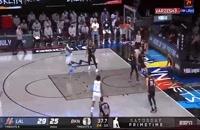 خلاصه بازی بسکتبال بروکلین نتس - لس آنجلس لیکرز