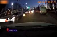 اقدام خطرناک راننده اتوبوس