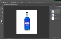 قرار دادن لیبل روی بطری در فتوشاپ