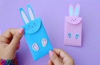 آموزش ساخت کیف کاغذی مدل خرگوش