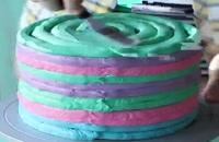 تزیین کیک چند رنگ بسیار زیبا shopee24