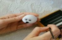 آموزش نقاشی و تزئین صورت عروسک موش بافتنی