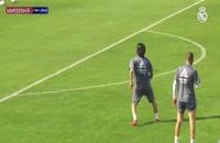 شوت های بسیار زیبا در تمرینات رئال مادرید