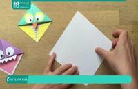 آموزش اوریگامی مرحله به مرحله جغد هیولا با کاغذ