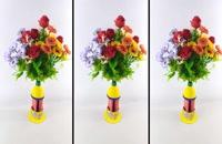 آموزش ساخت گلدان زیبا از بطری های پلاستیکی