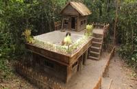 خانه های جنگلی مدرن از نظر فناوری با باغ و استخر شنا بسازید