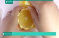 ایده ای جالب و زیبا برای تزیین ظرف میوه با پرتقال