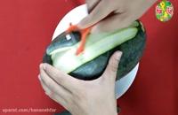 تزیین هندوانه به شکل گل - مخصوص شب یلدا