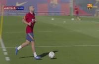 ویدیو تمرینات بارسلونا زیر نظر کومان