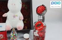 کادو آماده ولنتاین با عروسک یونی کورن نانویی سفید