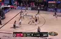 خلاصه بازی بسکتبال دنور ناگتس - لس آنجلس کلیپرز