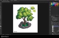 آموزش نقاشی دیجیتال درخت