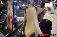 فیلم آموزش بلوند کردن مو با ریشه تیره