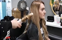 فیلم آموزش اکستنشن مو چسبی + فر کردن مو با بابلیس