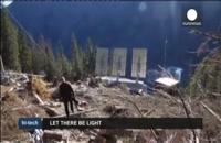 تاباندن نور به روستایی در نروژ با استفاده از آینه های بزرگ