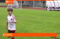 آموزش فوتبال به کودکان - آموزش حرکت با توپ