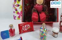 کادو ولنتاین با عروسک خرس قلب به دست نشسته