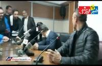 از دست دادن تعادل مدیر برنامه های گل محمدی در کنفرانس خبری