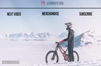 دوچرخه سواری حرفه ای در کوه های برفی جذاب