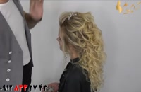 فیلم آموزش شینیون مو باز  پر حجم + فر کردن مو