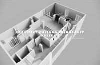 طراحی پلان و طراحی داخلی پروژه پویا