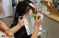 فیلم آموزش بالیاژ روی موهای تیره + مدل رنگ مو جدید