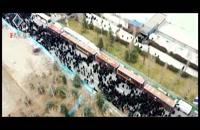 تصاویر هوایی از سیل جمعیت در مصلی تهران