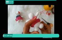 آموزش بافت عروسک با قلاب - عروسک گربه