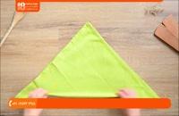 چگونه تا کردن دستمال برای سفره