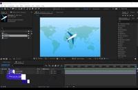 ۶- آموزش انیمیت هواپیما در مسیر مشخص و ساخت دنباله ی داینامیک
